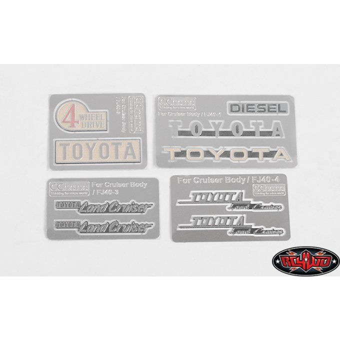 VVV-C0128 - COMPLETE METAL EMBLEMS SET FOR RC4WD CRUISER BODY