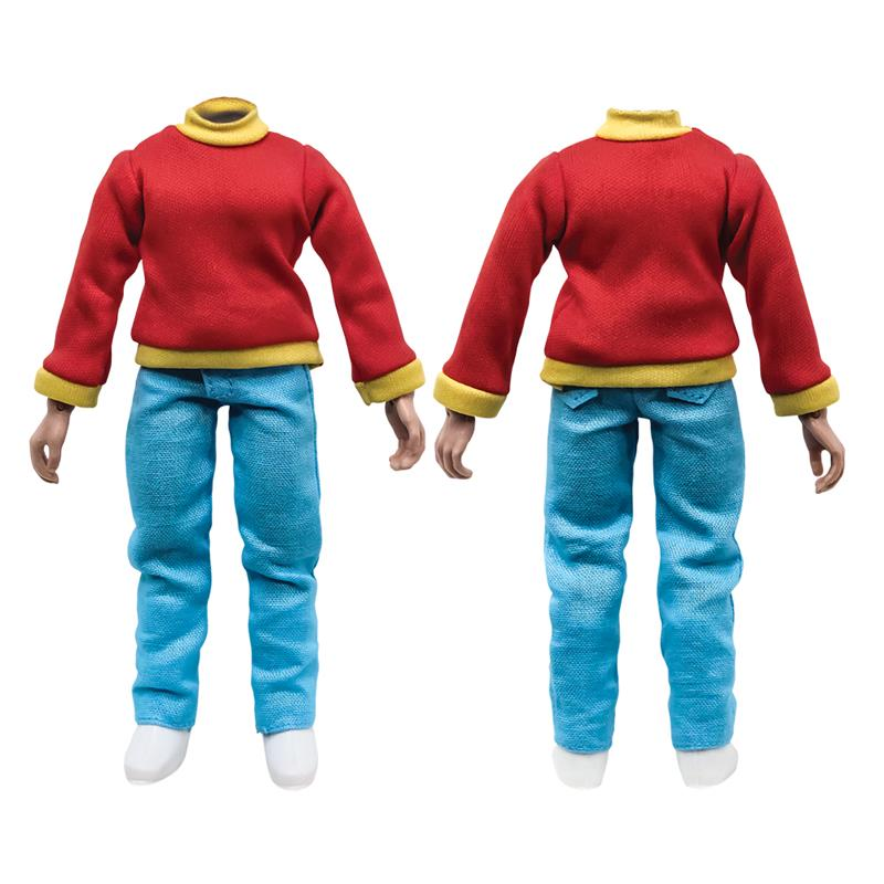 BATSON6INCH - 6 inch Teenager with Red Shirt and Blue Pants + head