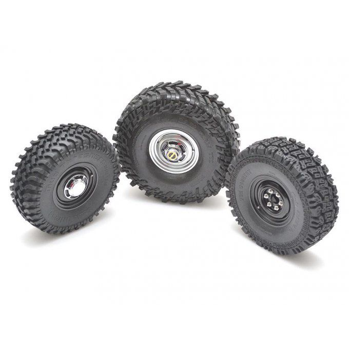 BRW780907FBK - Boom Racing 1.55 Yota LC Classic front Beadlock Wheels with 3mm Wideners (2) Black