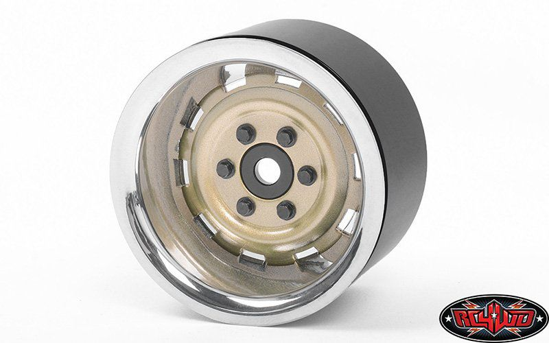 "Z-W0324 - Rally 1.9"" Beadlock Wheels (Gold)"