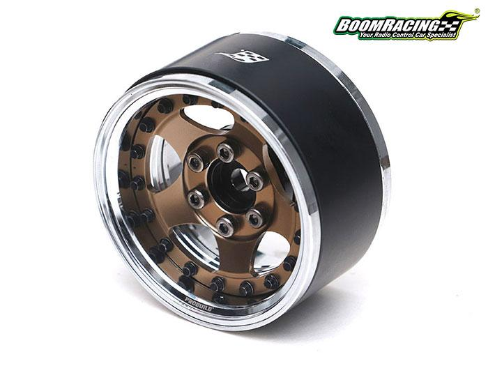 "BRPB001CRBZ - ProBuild™ 1.9"" SV5 Adjustable Offset Aluminum Beadlock Wheels (2) Chrome/Bronze"