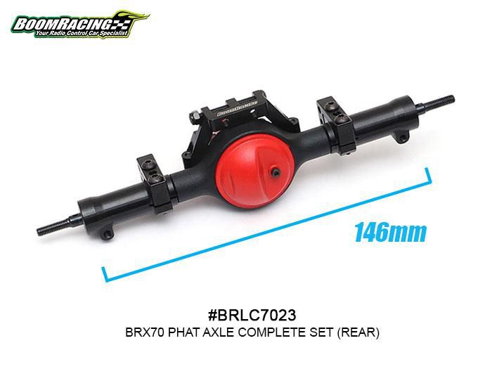 BRLC7023 - Boom Racing Complete Rear Assembled BRX70 PHAT Axle Set w/ AR44 HD Gears
