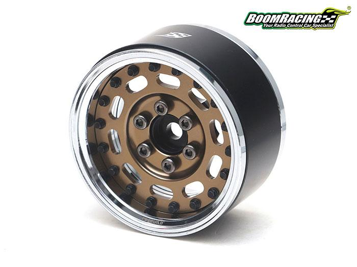 "BRPB002CRBZ - ProBuild™ 1.9"" MAG-10 Adjustable Offset Aluminum Beadlock Wheels (2) Chrome/Bronze"