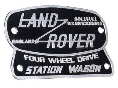 DJX-1038 - 1:10 Metal Stainless Steel Sign 3D Retro Logo For Traxxas Land Rover DJX-1038 (1Pcs)