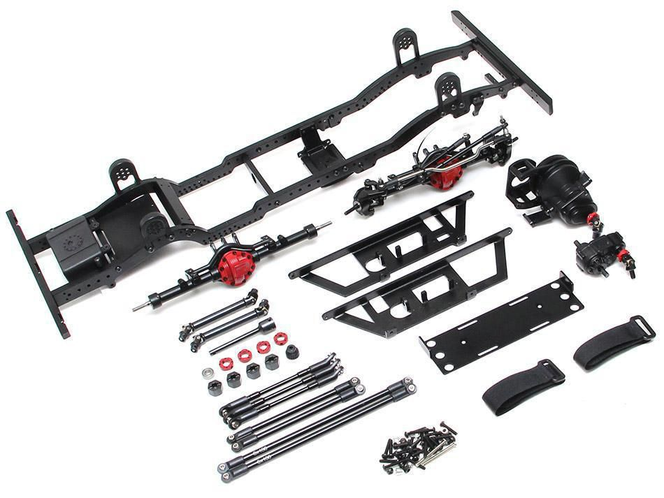 BRQ90348 -D110 Metal Chassis Kit (Without Shocks Wheels Tires) for TRC Raffee D110 Defender Body
