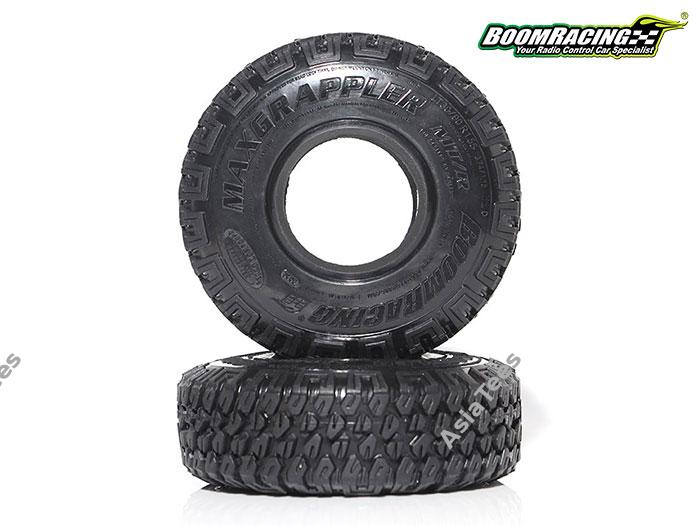 "BRTR15504 - 1.55"" MAXGRAPPLER Crawler Tire Gekko Compound 3.74""x1.18"" (95x30mm) Open Cell Foams (2)"