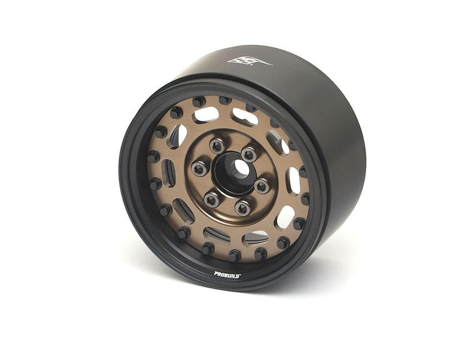 "BRPB006MBKBZ - ProBuild™ 1.9"" MAG-10 Adjustable Offset Aluminum Beadlock Wheels (2) Matt Black/Bronz"