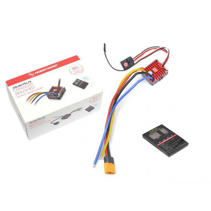 HW/30112750 - Hobbywing QuicRun WP-1080 Brushed ESC Waterproof 80A for Crawler with LED Program Box
