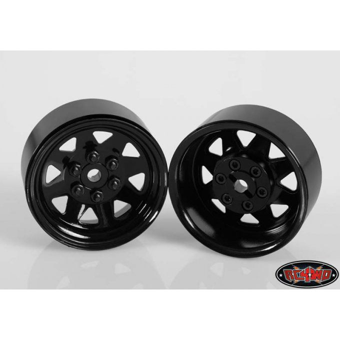 "Z-W0130 - 6 LUG WAGON 1.9"" STEEL STAMPED BEADLOCK WHEELS (BLACK) (set of 4)"