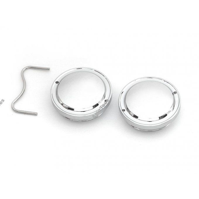 BRW780918 - Chrome Smoothie Classic Wheel Cap For Boomracing 1.55 LC Beadlock Wheels (2)