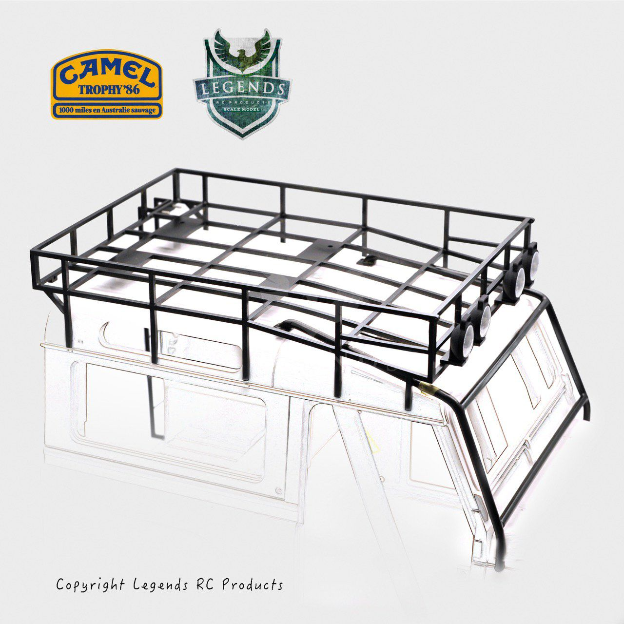 90OPN-1986 - Camel Trophy (1986) Top Roof Rack set for D90 Open Door Version (Team Raffee)