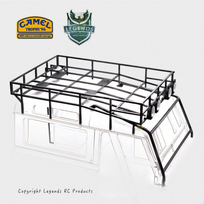 90OPN-1986 - Camel Trophy (1986) Top Roof Rack set for D90 Open Door Version