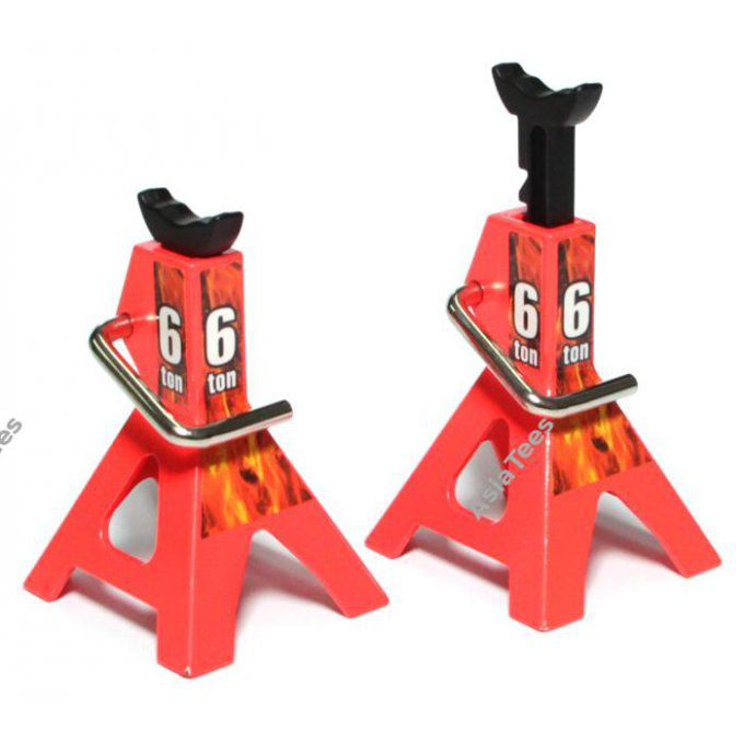 BRQT790028 - Aluminum 6 TON Scale Jack Stands (Fluorescent Orange)