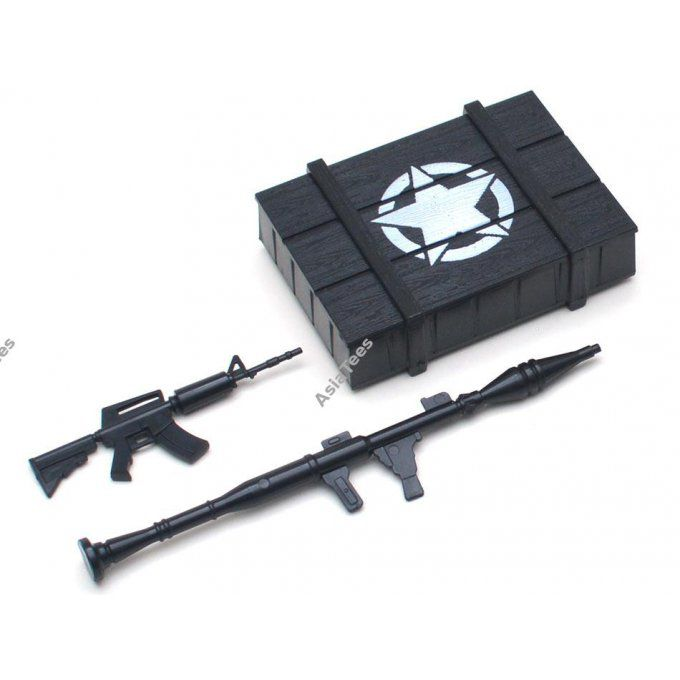 TRC/302339 - Scale Accessories Combo - Military Ammo Box & Machine Gun