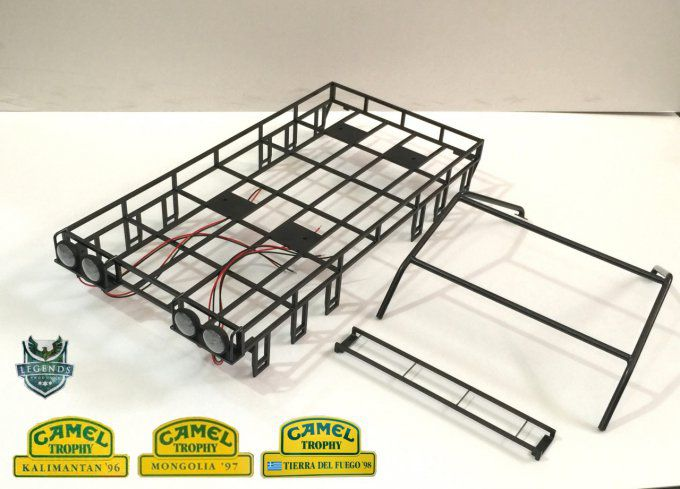 1101996OP-Double - Camel Trophy (1996, 1997, 1998) Top Roof Rack set for D110 Open Door Hard Body