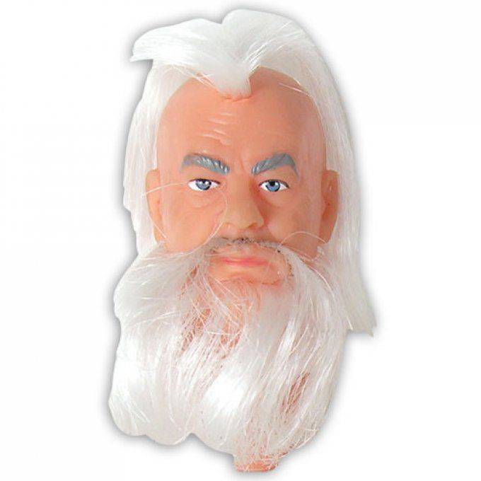 MENTORHEAD - Old Man with White Rooted Hair 8 inch