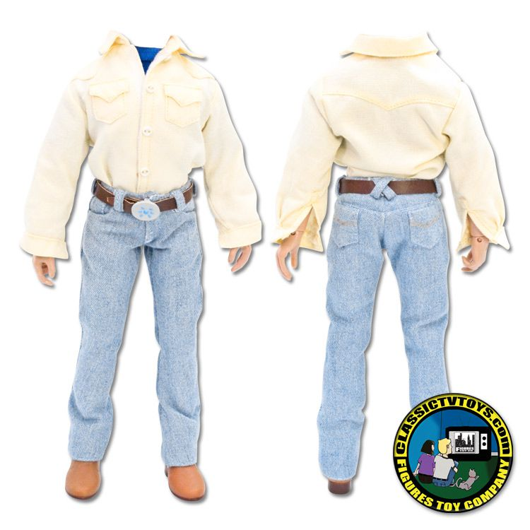 BODUKEBODY8INCH - Yellow Shirt with Light Jeans Outfit with 8 inch Body