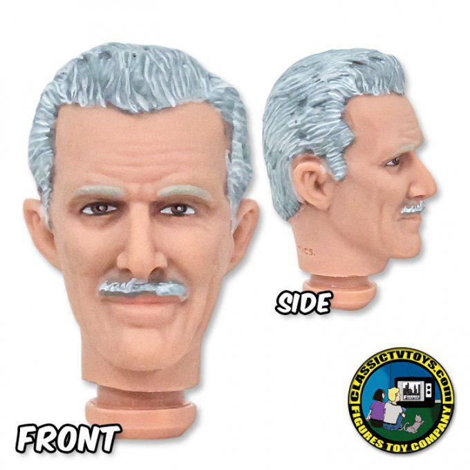 HEADALFRED - Grey Hair with Mustache Fully Painted Head