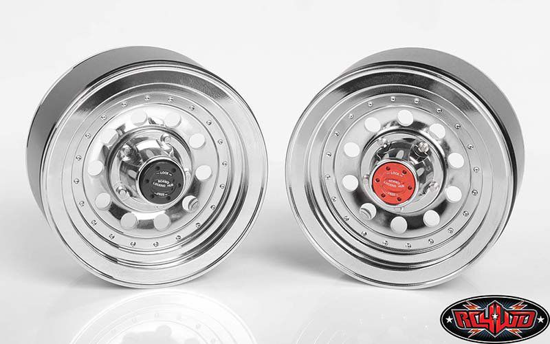 "Z-W0296 - Classic 10-Hole Chrome 1.9"" Beadlock Wheels"