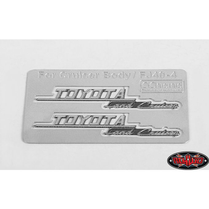 VVV-C0133 - Side Metal Emblems for RC4WD Cruiser Body (Side B)