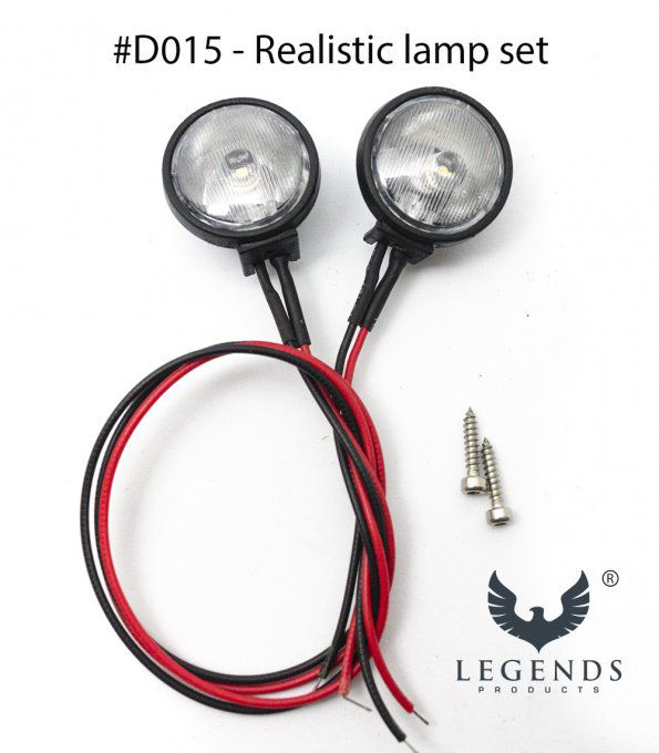 D015 - Realistic Lamp set for RC Camel Trophy