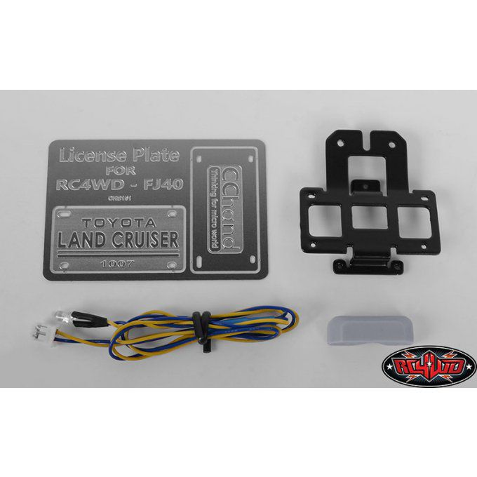 VVV-C0465 - Rear License Plate System for RC4WD G2 Cruiser (w/LED)