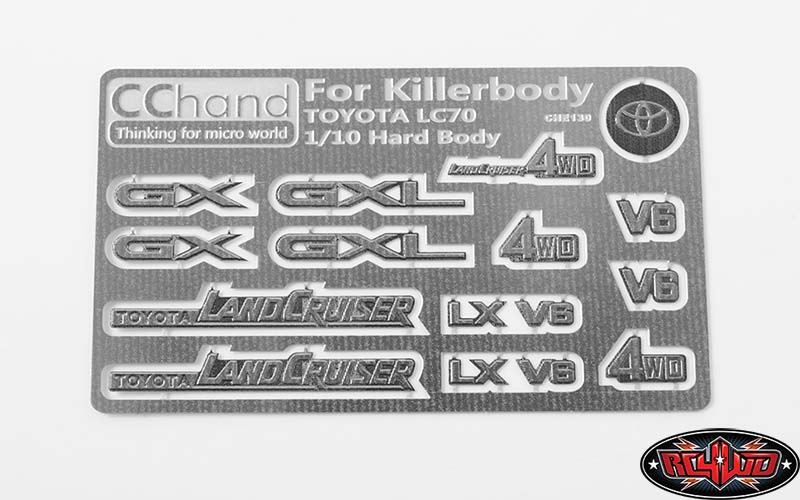 VVV-C0374 - METAL EMBLEMS FOR TOYOTA KILLERBODY LC70
