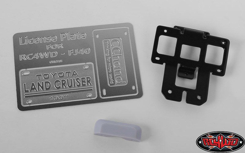 VVV-C0464 - REAR LICENSE PLATE SYSTEM FOR RC4WD G2 CRUISER