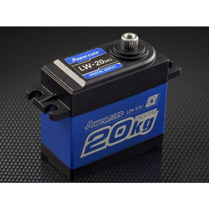 PH/LW-20MG - Power HD Waterproof Digital Servo 20Kg/0.16 Sec @6.0V for 1/10 Crawler & Buggy
