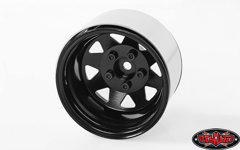 "Z-W0243 - 5 Lug Deep Dish Wagon 1.9"" Steel Stamped Beadlock Wheels (Black)"